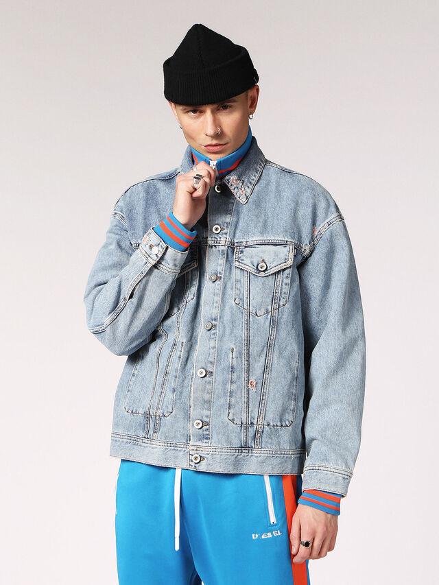 Diesel - D-WANO, Light Blue - Denim Jackets - Image 1