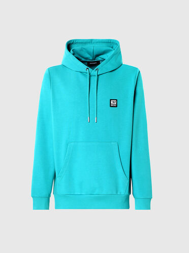 Hoodie with D logo patch