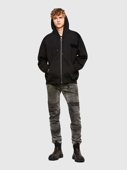 Diesel - S-HENON-ZIP, Black - Sweaters - Image 5