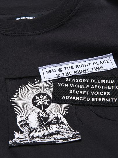 Diesel - TSHOOTYA OVER, Black/White - T-shirts and Tops - Image 3