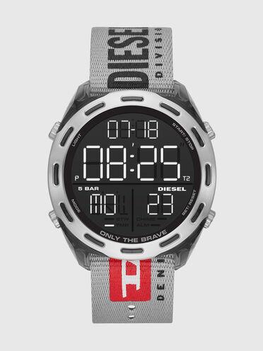 Crusher digital gray nylon watch