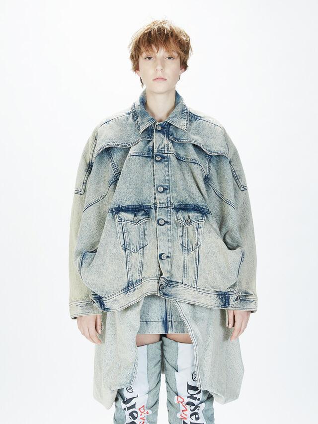 Diesel - SOJK01, Grey Jeans - Jackets - Image 3