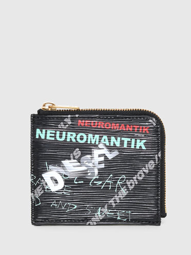 Card case with graffiti graphics