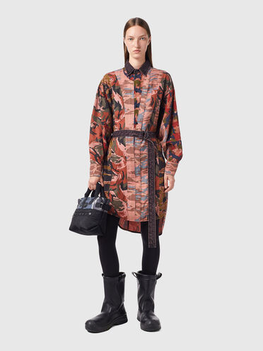 Panelled dress in Tencel twill