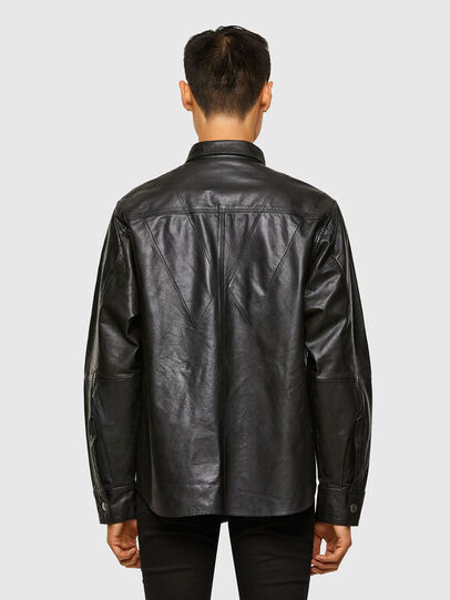 Diesel - L-BROWN, Black - Leather jackets - Image 2