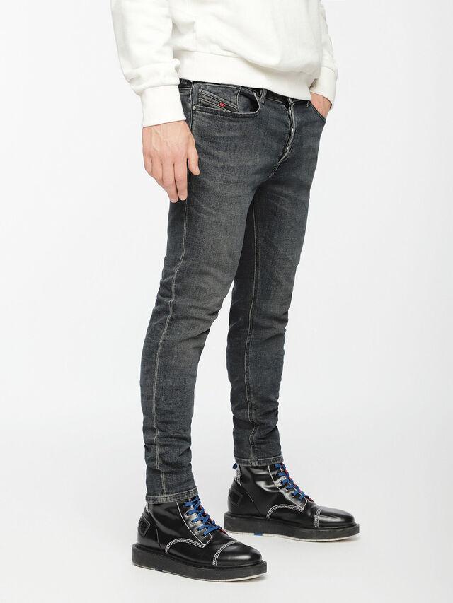 Diesel - Sleenker 084VQ, Black/Dark grey - Jeans - Image 3