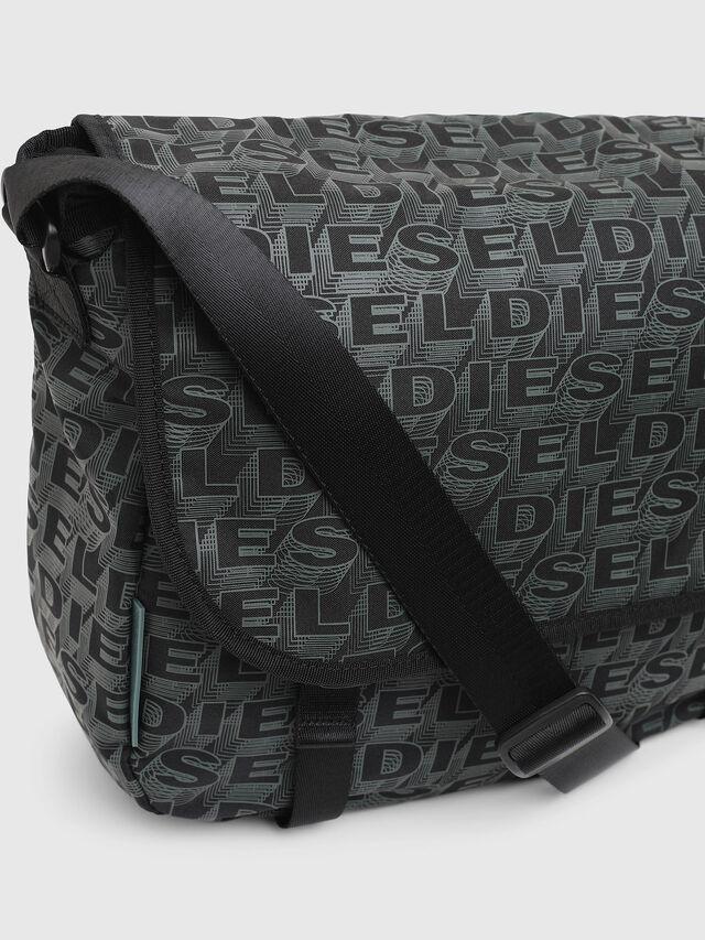 Diesel - F-DISCOVER MESSENGER, Black/Green - Travel Bags - Image 4