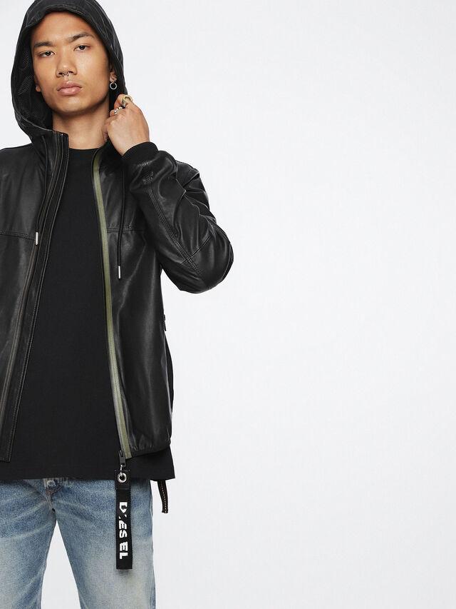 Diesel - L-TECH, Black - Leather jackets - Image 3