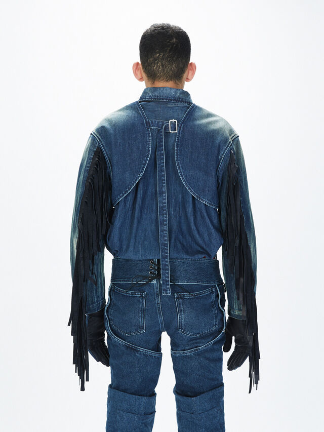 Diesel - SOGLV01-KIT, Blue Jeans - Gloves - Image 4