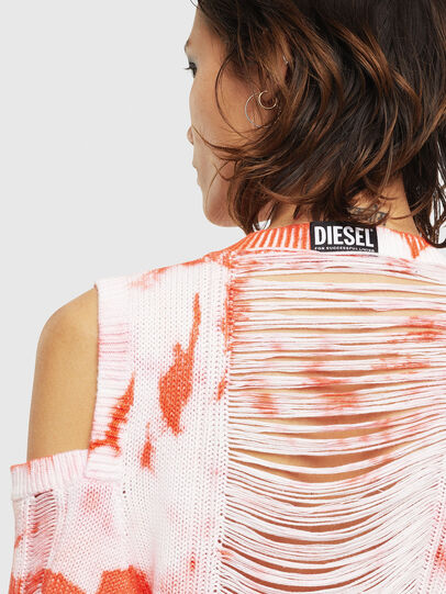 Diesel - M-BOBBY, Pink/White - Knitwear - Image 5