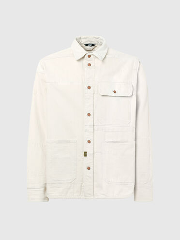 Patchwork shirt with sun-faded effect