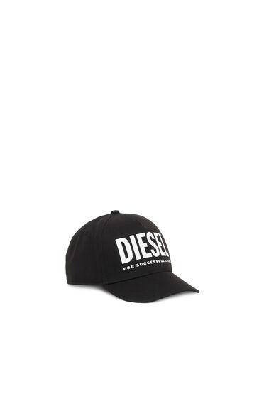 Baseball cap with logo and flat visor