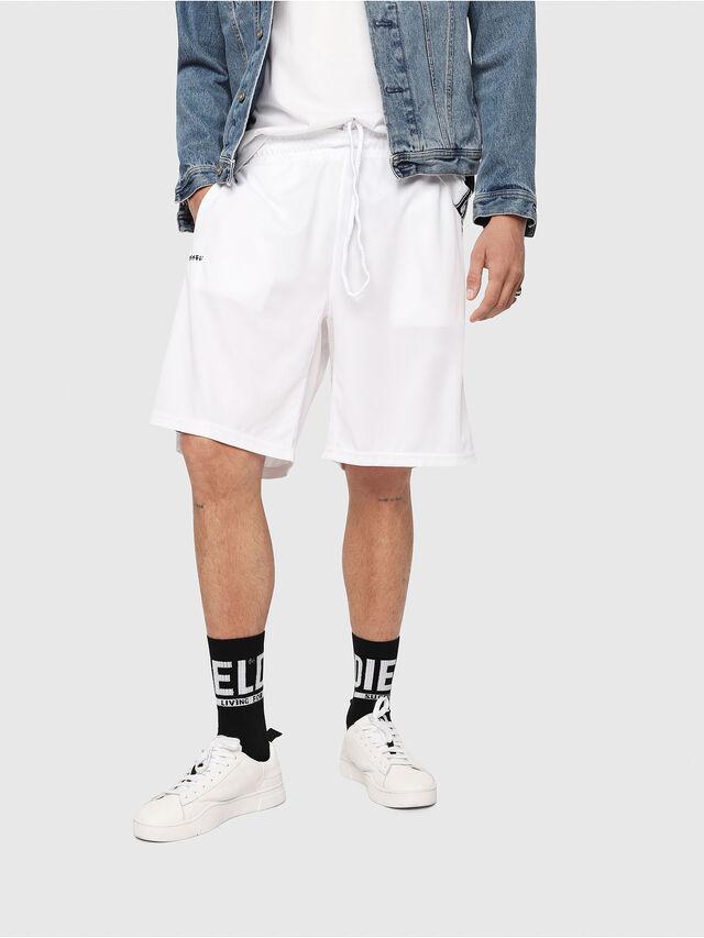 Diesel - P-HITOSHI, White/Black - Shorts - Image 1