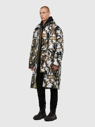Diesel - W-TORRENCE, White/Black - Winter Jackets - Image 7