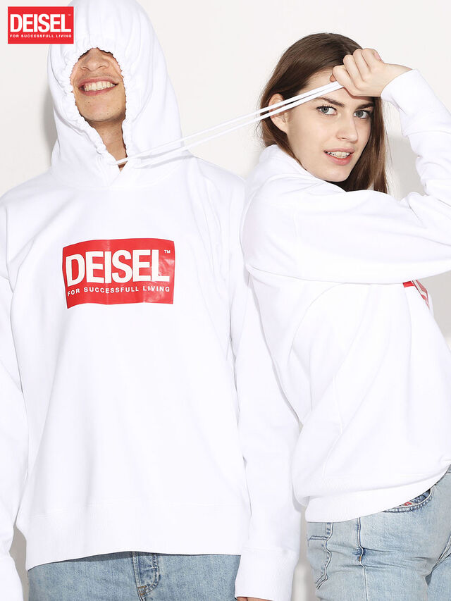 Diesel - DEIS-SHOOD, White - Sweaters - Image 1