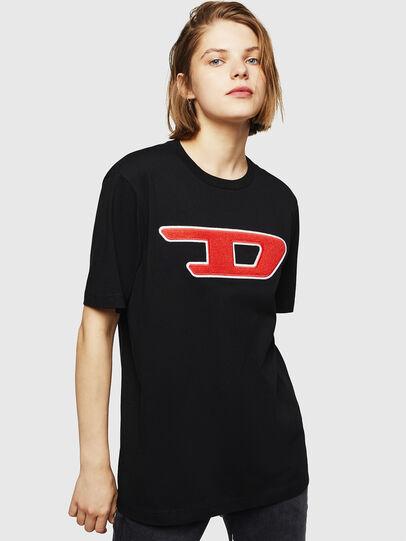 Diesel - T-JUST-DIVISION-D-FL, Black - T-Shirts - Image 1