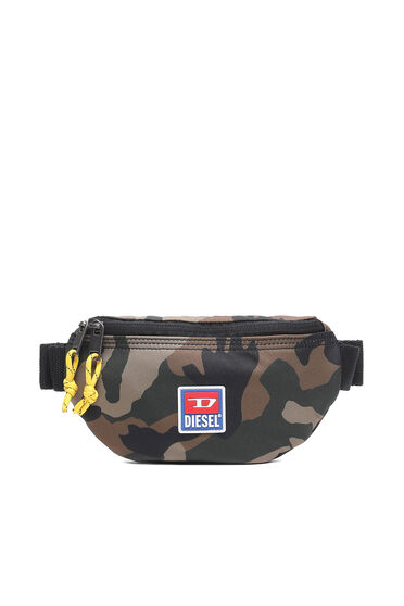 Belt bag in camouflage fabric