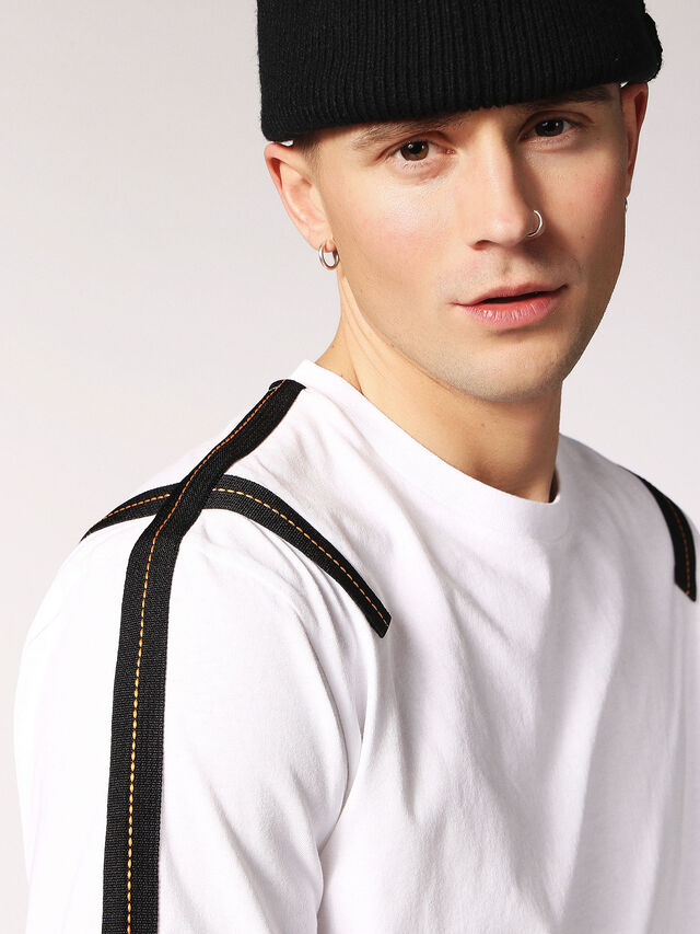 Diesel T-JUST-TAPE, White - T-Shirts - Image 3