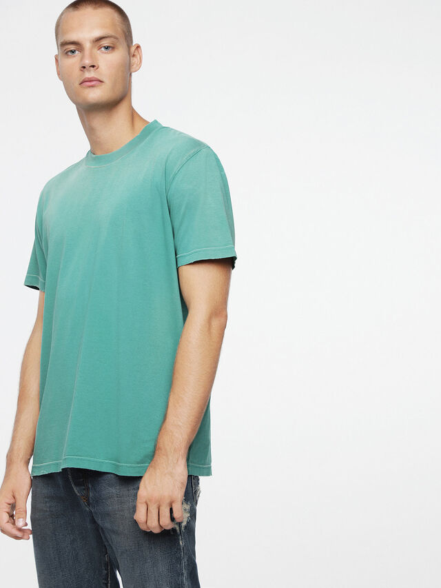 Diesel T-JOEY-T, Water Green - T-Shirts - Image 1
