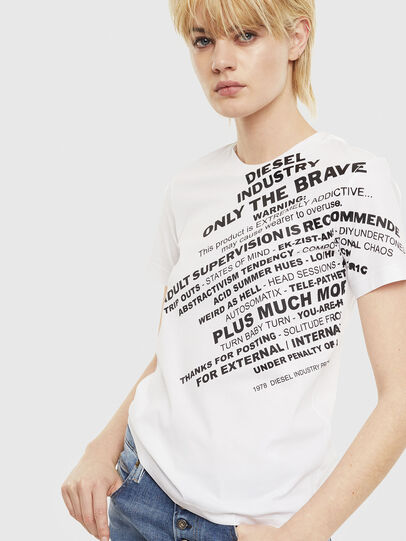 Diesel - T-SILY-S1, White - T-Shirts - Image 1