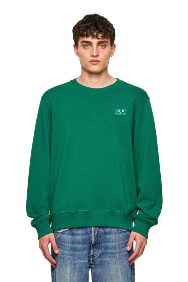 Green Label sweatshirt with emoji logo