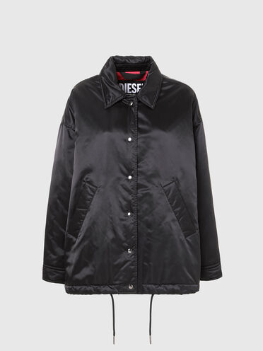 Wide-fit padded coach jacket
