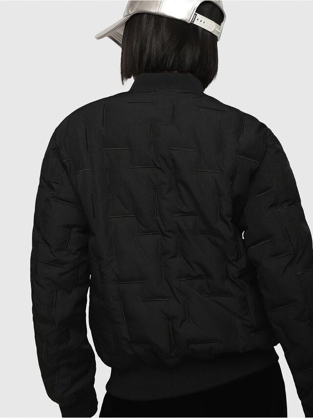 Diesel - W-TANAKA-FL, Black - Winter Jackets - Image 2