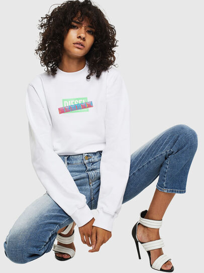 Diesel - F-ANG-S1, White - Sweaters - Image 3