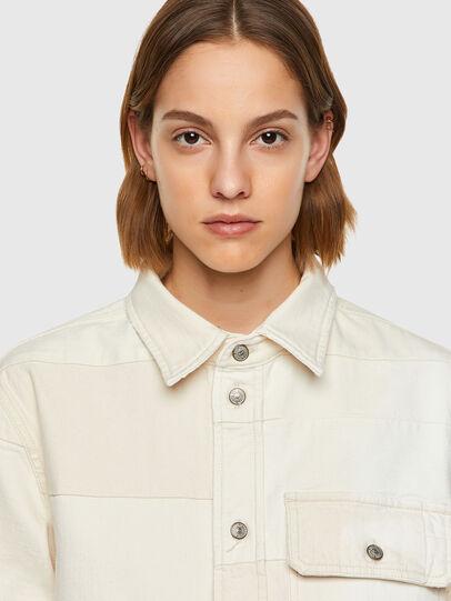 Diesel - D-HORUS-SP, White - Denim Shirts - Image 6