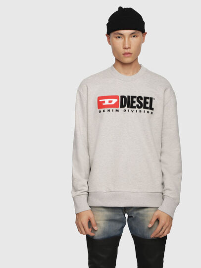 Diesel - S-CREW-DIVISION, Light Grey - Sweaters - Image 1