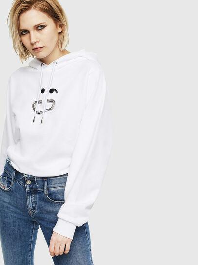Diesel - F-ANG-HOOD-S1, White - Sweaters - Image 4
