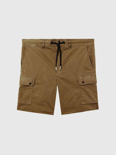 Garment-dyed cargo shorts