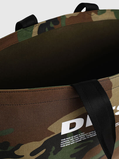 Diesel - D-THISBAG SHOPPER L, Green Camouflage - Shopping and Shoulder Bags - Image 5