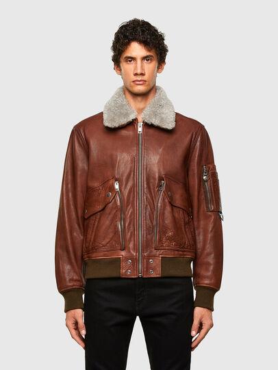Diesel - L-STEPHEN, Brown - Leather jackets - Image 1