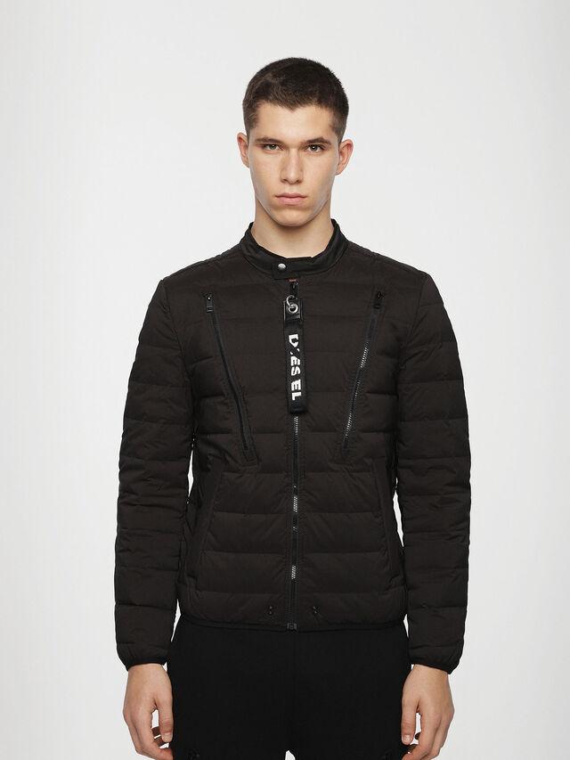 Diesel - W-HANKS, Black - Winter Jackets - Image 1