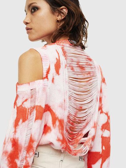Diesel - M-BOBBY, Pink/White - Knitwear - Image 3