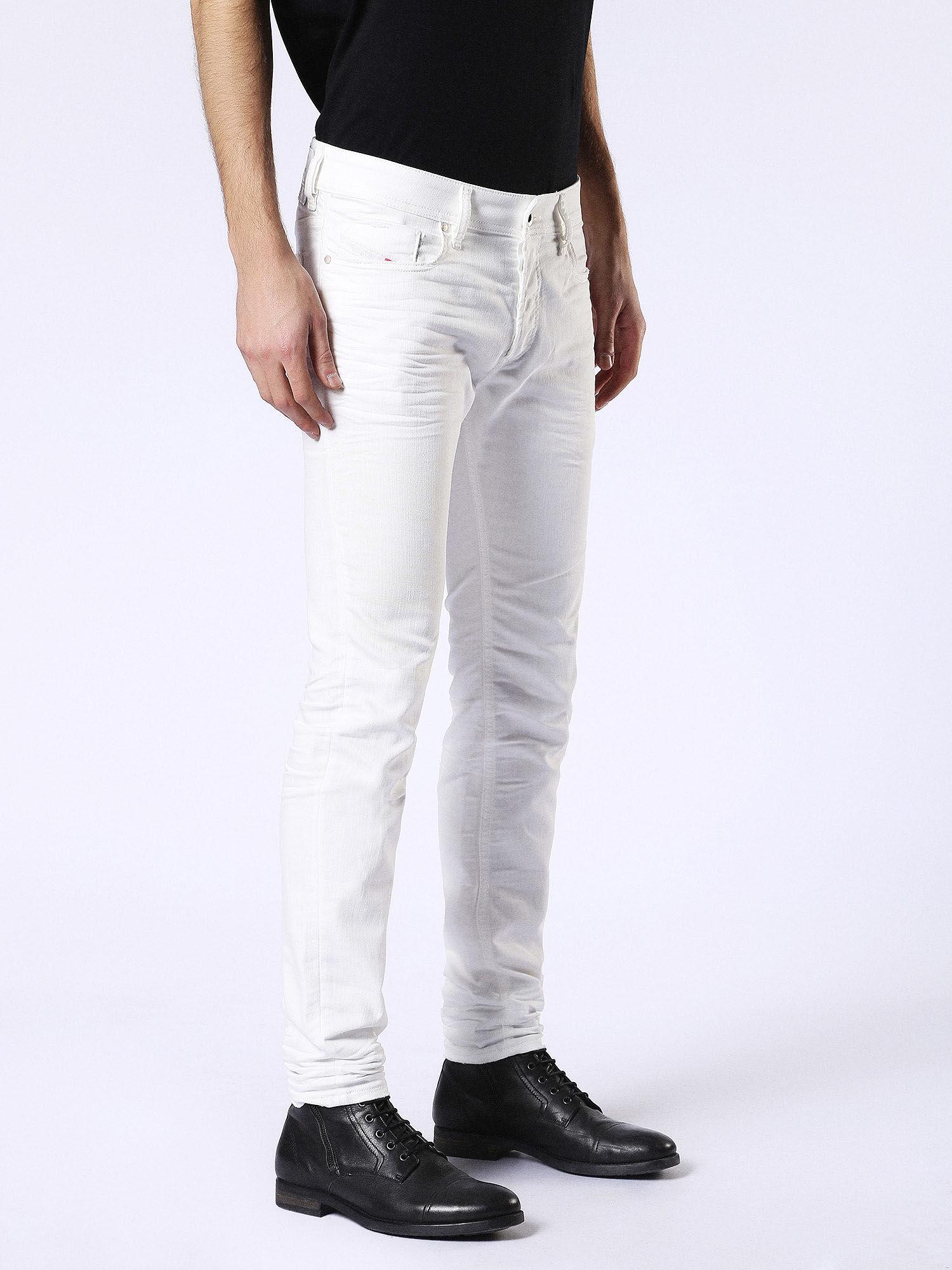 b92f47e0 00S7VG084CY Diesel SLEENKER 084CY: skinny Jeans Man White