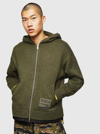 Diesel - K-NAVY, Military Green - Knitwear - Image 1