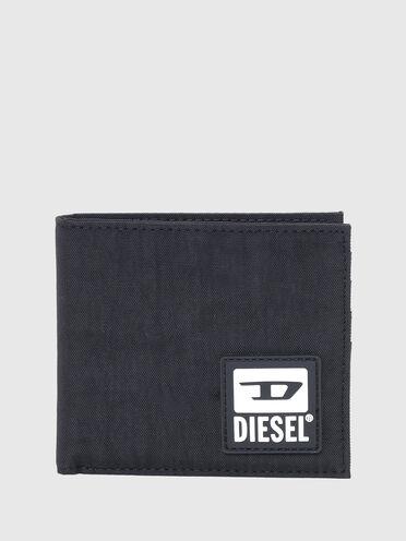 Bi-fold wallet in washed nylon