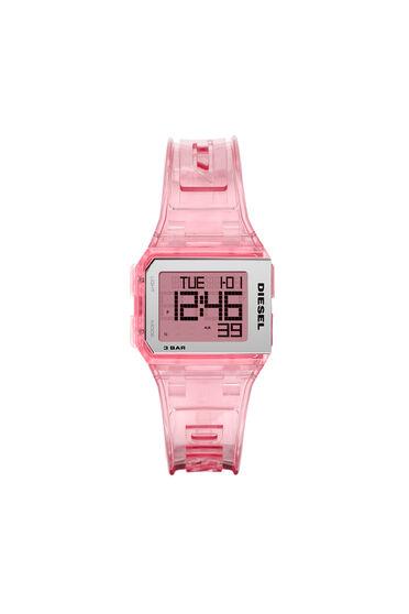 Chopped Digital Millennial Pink Transparent Watch