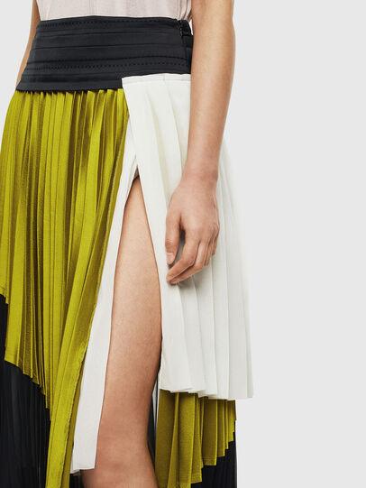 Diesel - O-ESCY, Black/Yellow - Skirts - Image 3