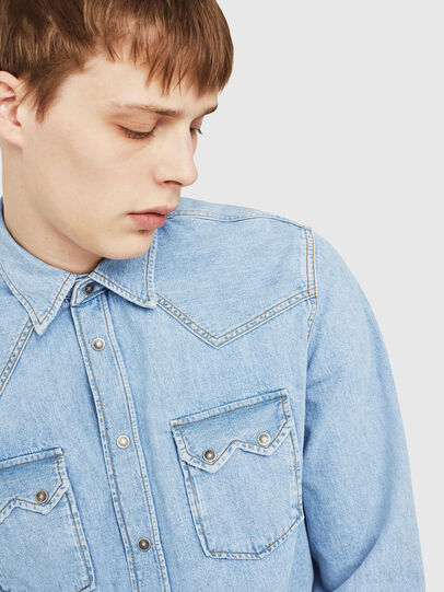 Diesel - D-LEO, Light Blue - Denim Shirts - Image 3