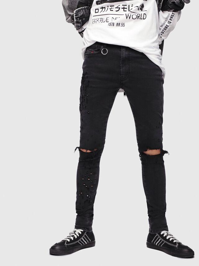 Diesel - D-Istort 085AW, Black/Dark grey - Jeans - Image 1