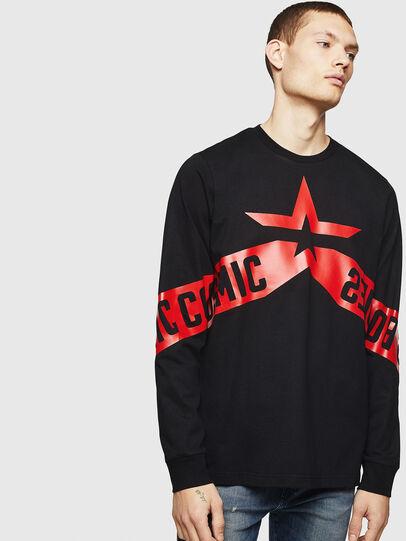 Diesel - T-JUST-LS-STAR, Black - T-Shirts - Image 1