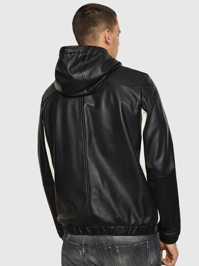 Diesel - L-CARR, Black - Leather jackets - Image 2