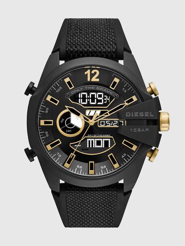 Mega Chief analog-digital black nylon and silicone watch