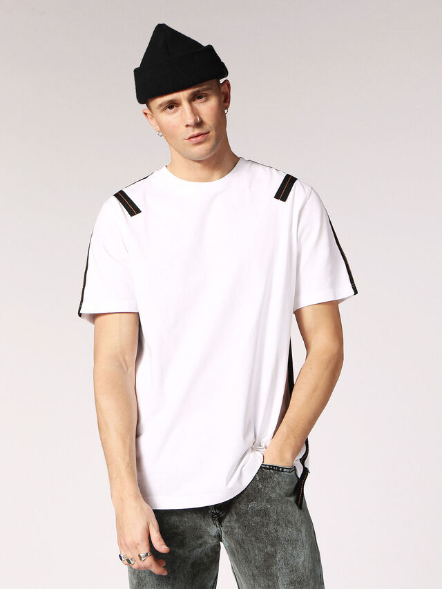 Diesel - T-JUST-TAPE, White - T-Shirts - Image 1