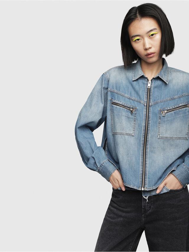 Diesel - DE-BEAVER, Blue Jeans - Denim Shirts - Image 1