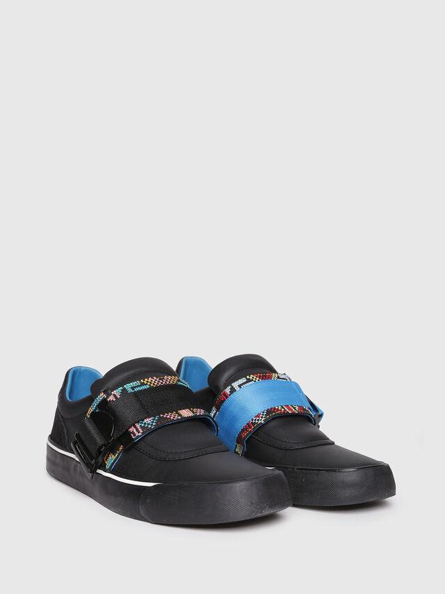 Diesel - S-FLIP LOW BUCKLE W, Black - Sneakers - Image 2