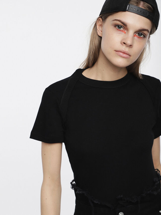 Diesel - T-SALI-A, Black - T-Shirts - Image 3